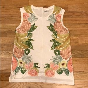 J. Crew Fruit Muscle Tank Top
